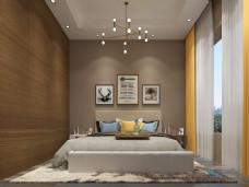 现代简约风格卧室空间装修设计效果图