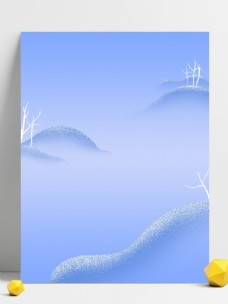 冬季唯美浪漫远山雪景背景