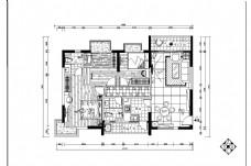 新中式三室一厅平面图
