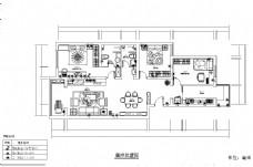现代风格四室一厅平面图