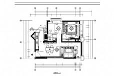 现代风格三室平面图