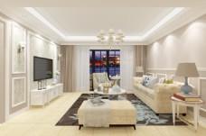 欧式风格客厅装饰装修效果图
