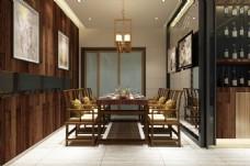 新中式风格餐厅装饰装修效果图