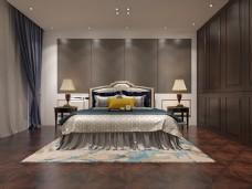 欧式风格卧室空间装修设计效果图