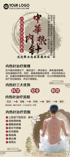 中国风古风中医展架
