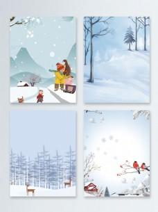 简约节气冬季新品促销广告背景图