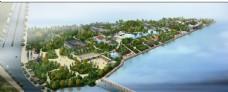 水边建筑绿化景观