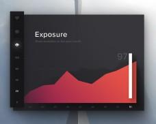 扁平多彩渐变弥散阴影网页软件设计素材