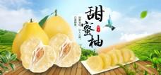 淘宝首页果蔬生鲜清新蜜柚促销banner