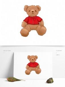 儿童玩具泰迪熊毛绒玩具配图原创元素
