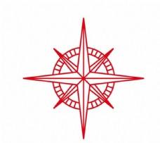 八芒星矢量图图腾星圆图案