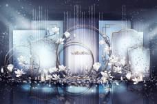新中式婚礼合影区效果图