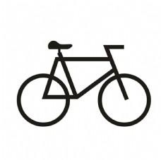 自行車矢量圖標