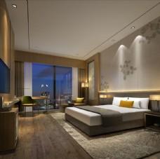 酒店客房豪华3d渲染模型
