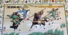 三英战吕布陶瓷画