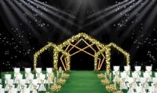 户外黄色婚礼效果图