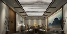 餐厅包厢3D渲染模型