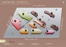 房地产导视分布图
