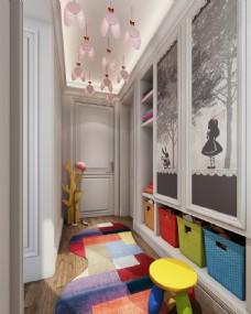 儿童房3D场景模型