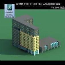 写字楼 现代办公楼 建筑模型图