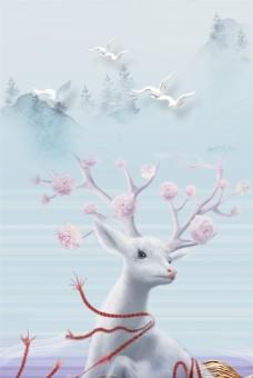 小清新浪漫冬天背景