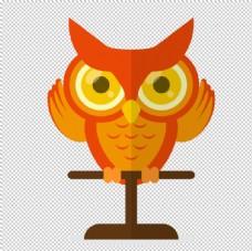 透明底猫头鹰
