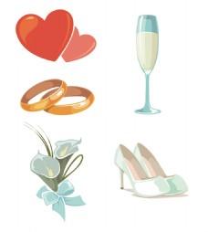 结婚用品矢量元素