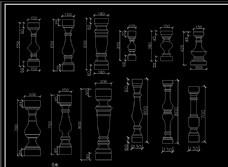 罗马柱造型图家装CAD图纸