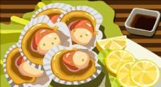 海鮮美食插畫