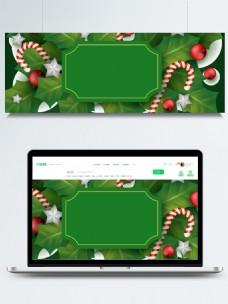 绿色圣诞节拐杖糖背景