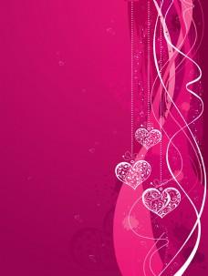 爱情时尚花纹底纹矢量素材
