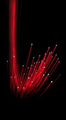 红色光源束