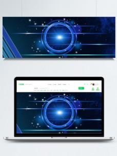 原创科技蓝色渐变圆形线条背景