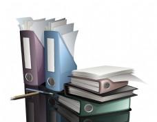矢量文件夹纸张元素