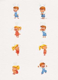 8组彩绘儿童表情设计