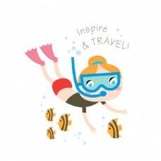 夏季潛水運動