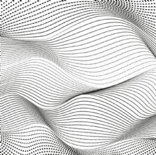 黑白曲线花纹