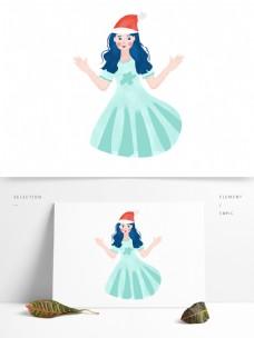 卡通带着帽子的女公主原创元素