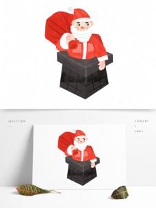 手绘卡通圣诞老人原创元素