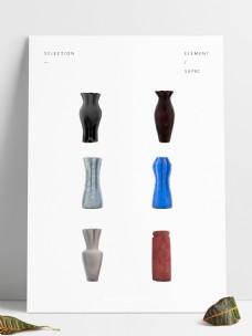 6款现代欧式艺术花瓶生活装饰用品陶瓷瓶子