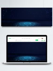 简约蓝色科技人工智能海报背景