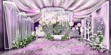 欧式典雅粉紫色婚礼效果图