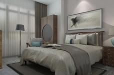 酒店大床房装修效果图