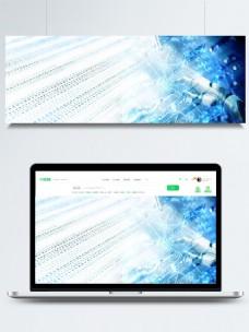 蓝色科技人工智能酷炫banner背景素材
