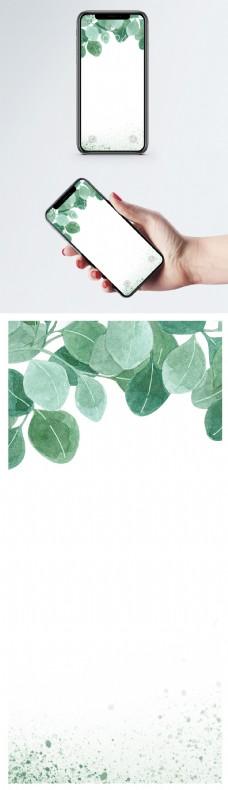 清新绿叶手机壁纸