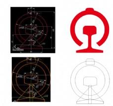 中国铁路 标志 标识 LOGO