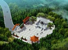 墓地设计案例鸟瞰效果图