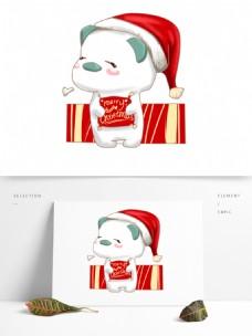 手绘小清新圣诞可爱熊图 可商用