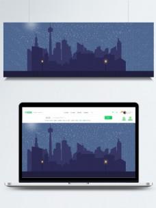 城市星光夜色背景素材