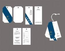 男装男裤吊牌商标设计